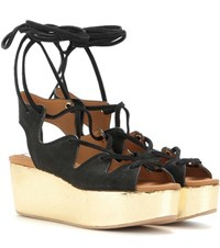 See By Chloe Suede Platform Sandals Black