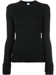 Damir Doma Ribbed Sweater Black