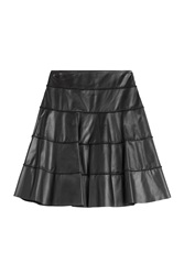 Paule Ka Leather Skirt Black