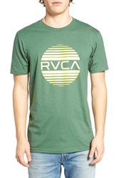 Rvca Men's Sanborn Gradient Graphic T Shirt Foliage
