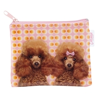 Catseye Poodle Love Coin Purse