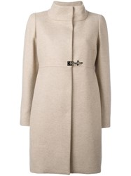 Fay Single Breasted Coat Nude Neutrals