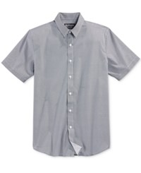 American Rag Men's Textured Short Sleeve Shirt Only At Macy's Basic Navy