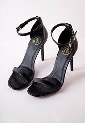Missguided Barely There Strappy Heeled Sandals Black Black