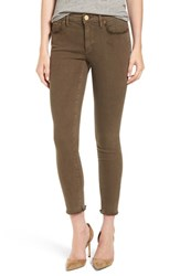 True Religion Women's Brand Jeans 'Halle' Frayed Ankle Skinny Jeans Olive Drab