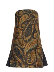 Ellery Sound And Vision Paisley Jacquard Strapless Top