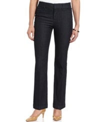 Jm Collection Petite Twill Straight Leg Trousers Midnight Wash