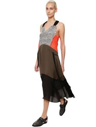 Damir Doma Patchwork Cotton And Techno Dress