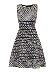 Oscar De La Renta Tweed Flared Skirt Dress