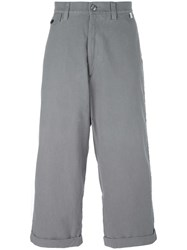 Facetasm Wide Legged Cropped Trousers Grey
