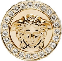 Versace Gold And Crystal Medusa Ring