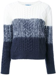 Guild Prime Cable Knit Tonal Jumper White