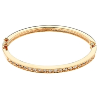 Cachet London Pave Swarovski Crystal Hinged Bangle Rose Gold