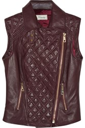 Temperley London Quilted Leather Vest