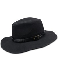 Inc International Concepts Belted Band Panama Hat Only At Macy's Black