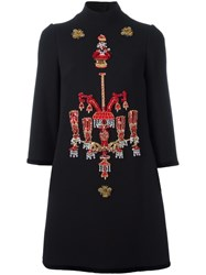 Dolce And Gabbana Chandelier Embroidered Dress Black