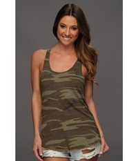 Alternative Apparel Printed Meegs Racer Tank Camo Women's Sleeveless Multi
