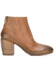 Marsell Marsa Ll Round Toe Ankle Boots Brown