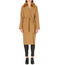 French Connection Imperial Wool Maxi Coat Manuka