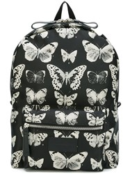 Alexander Mcqueen Skull And Moth Backpack Black