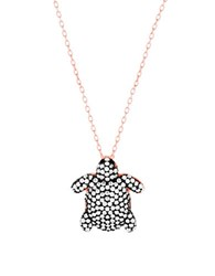 Lord And Taylor Cubic Zirconia Turtle Necklace Rose Gold