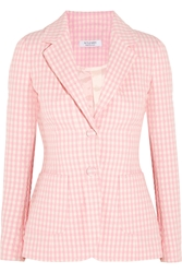 Altuzarra Fenice Gingham Seersucker Stretch Cotton Blazer
