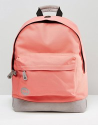 Mi Pac Classic Backpack In Coral Coral Grey Orange