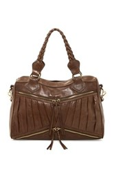 Treesje Asher Zip Satchel Brown