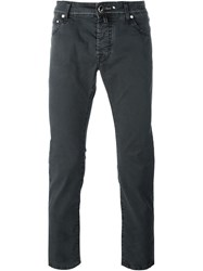 Jacob Cohen Textured Slim Fit Chinos Black