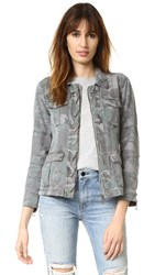 Pam And Gela Lace Up Jacket Camo Print