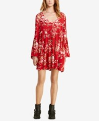 Denim And Supply Ralph Lauren Floral Print Bell Sleeve Dress Floral Multi