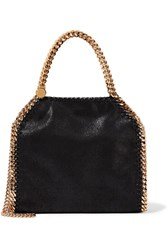 Stella Mccartney The Falabella Mini Faux Brushed Leather Shoulder Bag Black