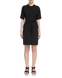 Whistles Katya Belted Shirt Dress Black