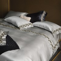 La Perla Icona Duvet Cover Super King Grey Black And Ivory