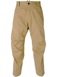 Dsquared2 Slim Chino Trousers Nude And Neutrals