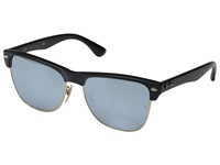 Ray Ban Clubmaster Oversized 57Mm Black Green Mirror Silver Fashion Sunglasses Blue