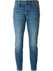 Burberry Brit Cropped Slim Fit Jeans Blue