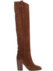 Laurence Dacade 100Mm Over The Knee Suede Boots