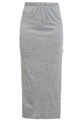 Noisy May Petite Nmlax Maxi Skirt Medium Grey Melange Mottled Grey