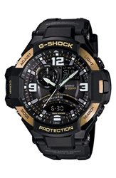 G Shock 'Gravity Master' Digital Compass Resin Watch 51Mm X 52Mm Regular Retail Price 250.00 Black Gold