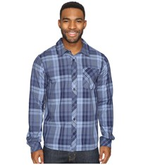 Smartwool Summit County Plaid Long Sleeve Top Deep Navy Men's Clothing