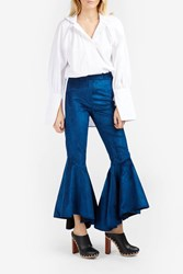 Ellery Hysteria Cropped Flared Trousers Blue
