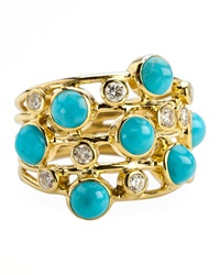 Ippolita Turquoise And Diamond Constellation Ring