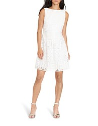 Lauren Ralph Lauren Petite Cotton Eyelet Dress White