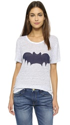 Zoe Karssen Stripe Bat Tee Eclipse
