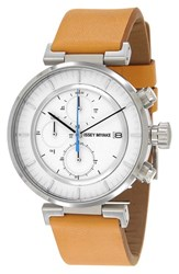 Men's Issey Miyake 'W' Chronograph Leather Strap Watch 43Mm