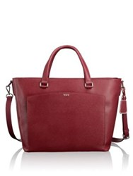 Tumi The Sinclair Camila Leather Trimmed Tote Cranberry