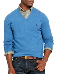 Polo Ralph Lauren Merino Wool V Neck Sweater Night Blue
