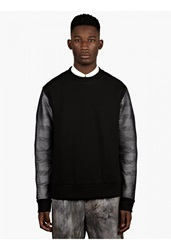 Christopher Raeburn Men's Black Mesh Sleeve Sweatshirt