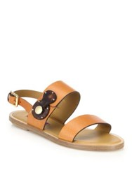 Ralph Lauren Reilly Leather Flat Slingback Sandals
